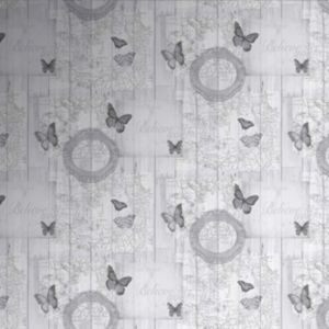Image of Fresco Charcoal Butterfly Wallpaper
