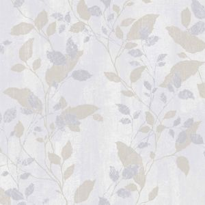 Image of Graham & Brown Boutique Grey Floral Metallic Wallpaper