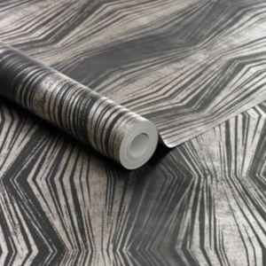 Image of Boutique Blue Geometric Wallpaper