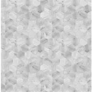 Image of Boutique Grey Honeycomb Metallic effect Wallpaper