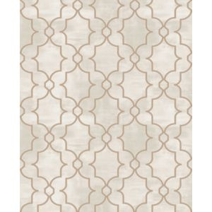 Image of Boutique Carmona Taupe Geometric Metallic effect Wallpaper