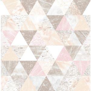 Image of Boutique Beau Pink Geometric Metallic effect Wallpaper