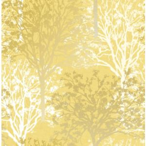 Image of Boutique Arbre Yellow Tree Mica effect Smooth Wallpaper