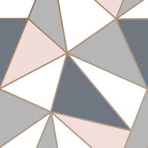 Image of Superfresco Easy Navy & pink Geometric Smooth Wallpaper