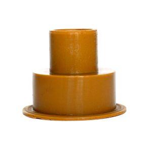Image of Euroflo Tan Rubber Flush pipe connector