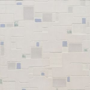 View Spa Cream, Blue & Green Tile Effect Vinyl Wallpaper details