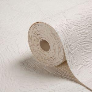 View Chunky Plaster White Vinyl Wallpaper details