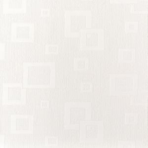 View Floating Squares White Vinyl Wallpaper details