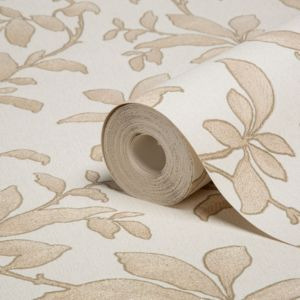 View Sarra Leaves Gold Effect Wallpaper details