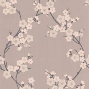 View Cherry Blossom Charcoal & Taupe Wallpaper details