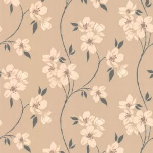 View Mia Floral Taupe Wallpaper details