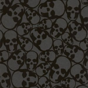 Image of Graham & Brown Barbara Hulanicki Midnight Skulls Wallpaper