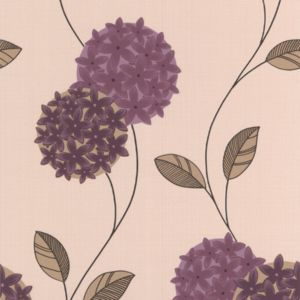 View Pippa Cream & Purple Wallpaper details