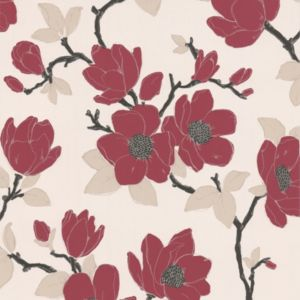 View Elinor Floral Carmine & Cream Wallpaper details