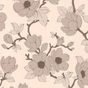View Elinor Floral Cream Vinyl Wallpaper details