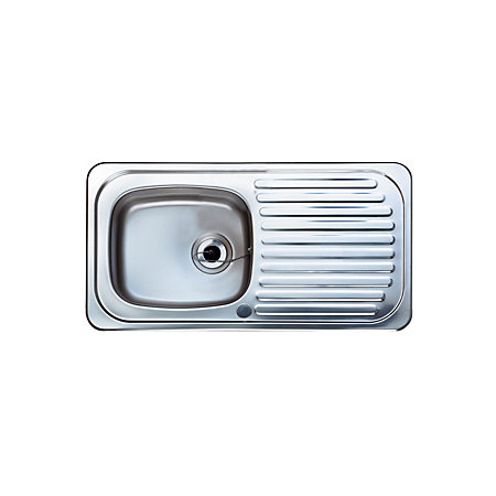 ... Bowl Stainless Steel Sink & Drainer Departments DIY at B&Q