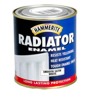 View Hammerite Enamel White Satin Radiator Paint 500ml details
