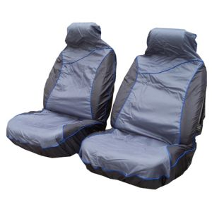 View Sakura Sport Blue & Grey Front Seat Cover details