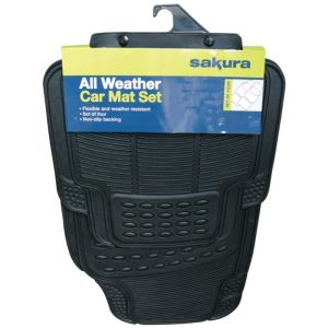 View Sakura All Weather Black Car Mat, Set of 4 details