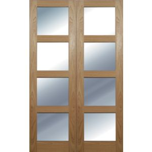 View Beauly 4 Lite Clear Glazed Hardwood Internal French Door Panel French Door Panel, (H)1981mm (W)579mm details