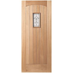 View Croft Hardwood Veneer Partially Glazed LH Front Door (H)1981mm (W)762mm details