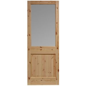 View Bracknell Knotty Pine Partially Glazed LH Front Door (H)1981mm (W)762mm details