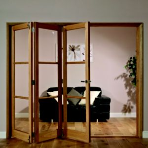 View Freedom Eden Hardwood Veneer 3 Panel Glazed Interior LH Folding Door (H)2035mm (W)2146mm details
