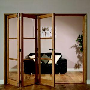 View Freedom Eden Hardwood Veneer 3 Panel Glazed Interior LH Folding Door (H)2035mm (W)2374mm details