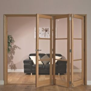 View Freedom Eden Hardwood Veneer 3 Panel Glazed Interior RH Folding Door (H)2035mm (W)2374mm details