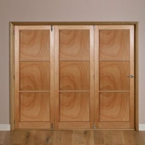 View Eden Hardwood Veneer Internal Folding Door LH, (H)2035mm (W)2146mm details