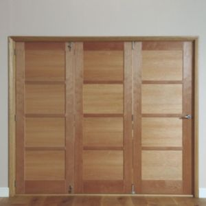 View Beauly 4 Panel Hardwood Veneer Internal Folding Door LH, (H)2035mm (W)2146mm details