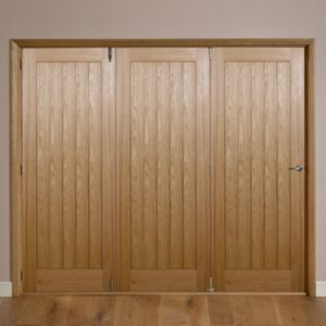 View Laxford Cottage Oak Veneer Internal Folding Folding Door LH, (H)2035mm (W)2374mm details