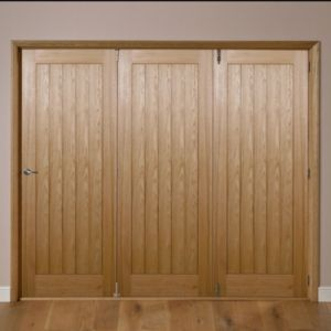 View Laxford Cottage Oak Veneer Internal Folding Folding Door RH, (H)2035mm (W)2374mm details