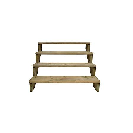Step deck stair kit departments diy at b q for Garden decking kits b q
