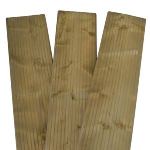 View Premium Green Softwood Deck Board (W)228mm (L)2400mm (T)31mm, Pack of 3 details
