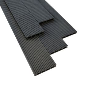 View Ebony Composite Deck Board (W)146mm (L)2200mm (T)22mm, Pack of 7 details