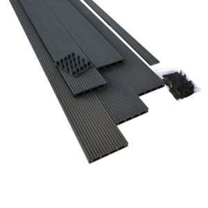 View Ebony Composite Deck Board (W)146mm (L)2200mm (T)22mm, Pack of 5 details