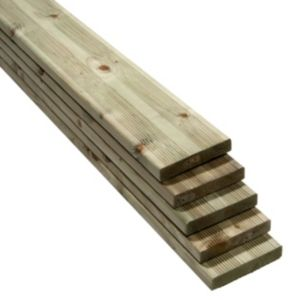 View Premium Softwood Reversible Deck Board (W)144mm (L)2400mm (T)28mm, Pack of 5 details