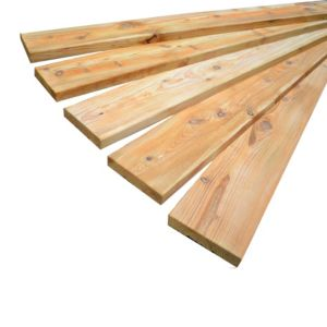View Premium Timber Brushwood Brown Softwood Deckboard (W)145mm (L)2400mm (T)28mm, Pack of 5 details