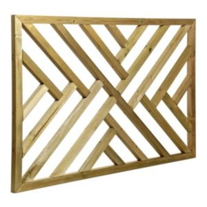 View Tanalised Timber Modern Trellis Panel (H)762mm (W)1.13m details