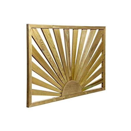 Tanalised timber sunburst trellis panel h m w for Tanalised timber decking