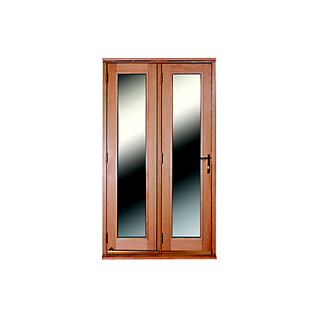 Freedom 1 lite clear glazed external folding french door for French doors 1190