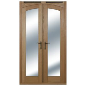 View 1 Lite Clear Glazed External Patio French Door, (H)2009mm (W)1490mm details