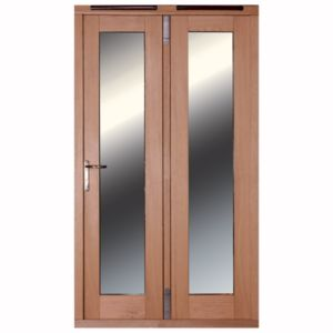 View 1 Lite Clear Glazed External Folding French Door, (H)2009mm (W)1190mm details