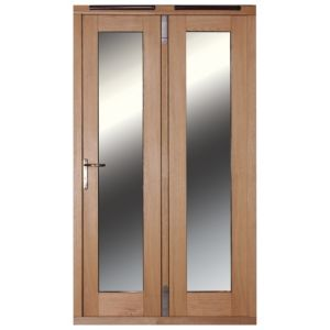 View 1 Lite Clear Glazed External Folding French Door, (H)2009mm (W)1490mm details