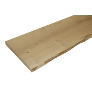View Oak Waney Edge Furniture Board (L)1200mm (W)300mm (T)25mm details