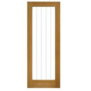 Image of Cottage 1 Lite Oak veneer Smooth Internal Timber door (H)1981mm (W)762mm