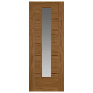 View Flush 5 Panel Oak Veneer Ready to Stain or Varnish.  Please Refer to Manufacturers Care Instructions Included with Your Door Glazed Internal Glazed Door, (H)1981mm (W)838mm details