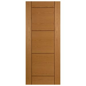 View Ventford Walnut Veneer Timber External Front Door, (H)2032mm (W)813mm details