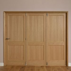 View Keilder 2 Panel Oak Veneer Internal Folding Folding Door LH, (H)2035mm (W)2374mm details
